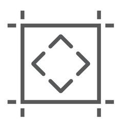 Artboard line icon tools and design board sign vector