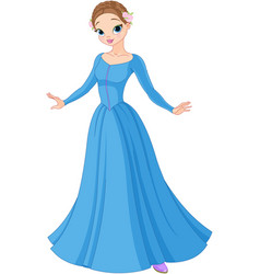 Beautiful fairytale princess vector