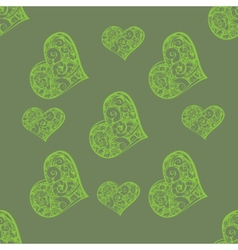 Beautiful seamless background with hearts vector image