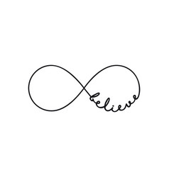 believe - infinity symbol repetition and vector image