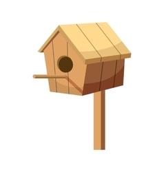 Birdhouse icon cartoon style vector