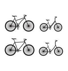 black silhouettes of bicycles vector image