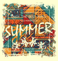 boho summer poster vector image