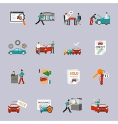 Car Dealership Icon Set vector image