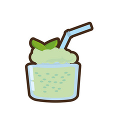 Cartoon smoothie mint fresh drink vector