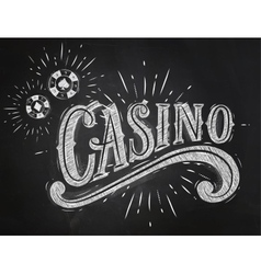 Casino sign chalk vector