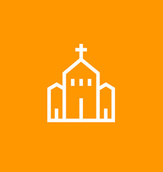 church icon linear pictogram vector image