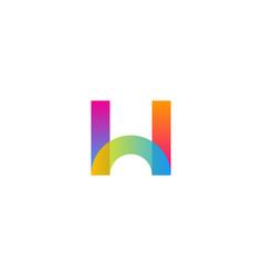 Color letter w logo icon design vector