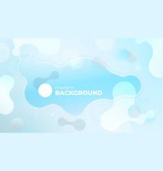colorful geometric background design blue fluid vector image