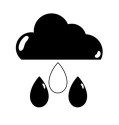 Contour cloud with rain and natural weather vector