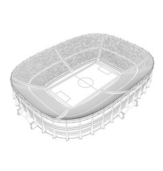 Contour of a large stadium for football 3d vector