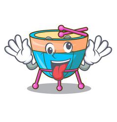 Crazy cartoon timpani isolated on the mascot vector