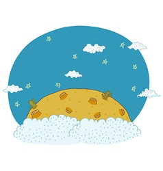 Cute desert background vector image