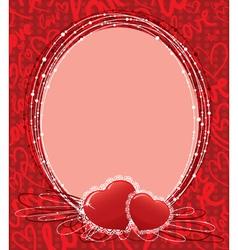 cute valentines border vector image