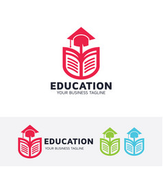 education logo design vector image