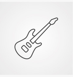 electric guitar icon sign symbol vector image