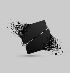 explosive black stone vector image