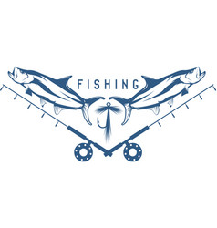 Fishing vintage with tarpon fish lure and f vector