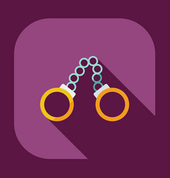 Flat modern design with shadow icons handcuffs vector