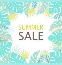 floral frame summer sale vector image