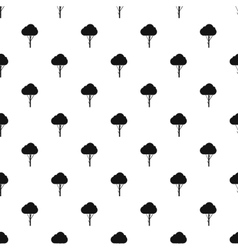 Fluffy tree pattern simple style vector
