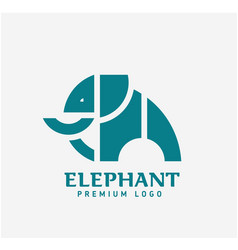 Geometric shape of elephant logo vector