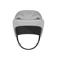 gray helmet for player of ice hockey front view vector image