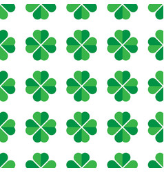 green shamrock seamless pattern background of vector image