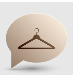 Hanger sign Brown gradient icon on vector image