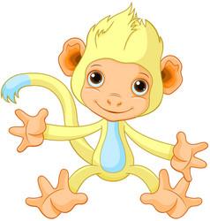 Happy little monkey vector
