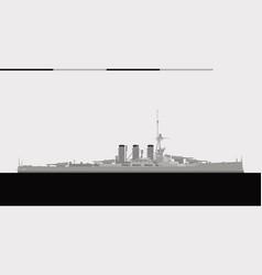 Hms tiger royal navy battlecruiser vector