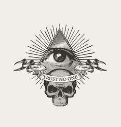 Icon masonic symbol all-seeing eye vector