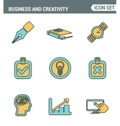 Icons line set premium quality of creative vector