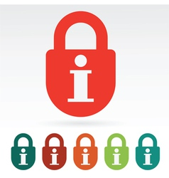 information secured vector image