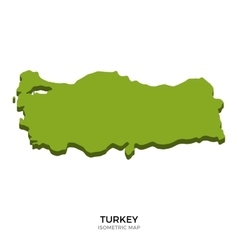 Isometric map of Turkey detailed vector