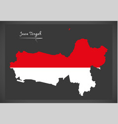 jawa tengah indonesia map with indonesian vector image