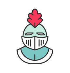 Knight helmet color icon vector