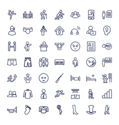 Man icons vector