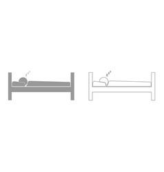 man sleeping set icon vector image