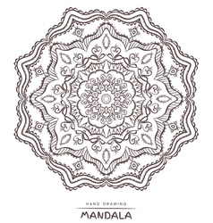 Mandala for coloring patterned design element vector