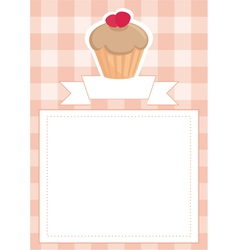 Menu wedding card or baby shower invitation vector image