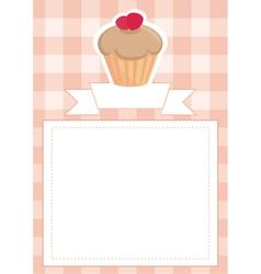 Menu wedding card or bashower invitation vector