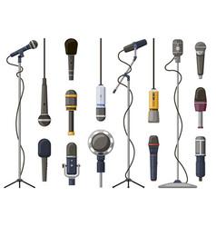 music microphones studio sound broadcast or vector image