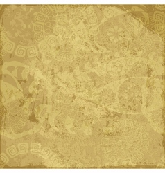 Old yellow grunge paper vector image vector image