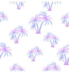 palm tree seamless summer pattern tropical vector image