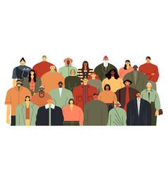 people group community portrait team standing vector image