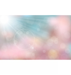 Pink and blue spring background vector image