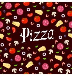 Pizza pattern headline vector