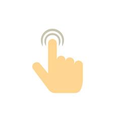 Pointer finger click icon vector