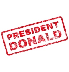 President Donald Rubber Stamp vector image
